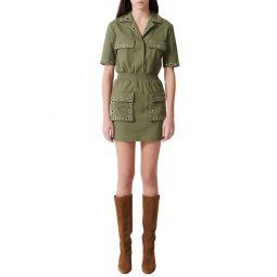 Ramil Military Style Minidress