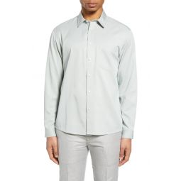 Solid Button-Up Shirt