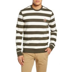 Slim Fit Wide Stripe Sweatshirt