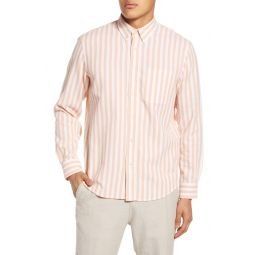 Slim Fit Waffle Stripe Button-Down Shirt