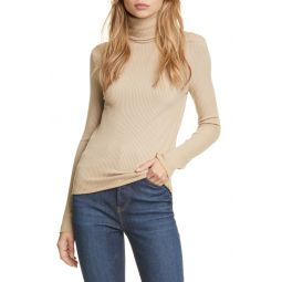 60s Ribbed Turtleneck Top