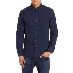 Slim Fit Flannel Button-Up Shirt
