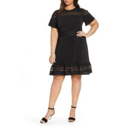 Open Stitch Inset Dress