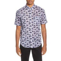 Baja Blossom Regular Fit Short Sleeve Button-Down Shirt
