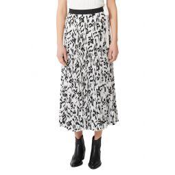 Jemo Pleated Midi Skirt