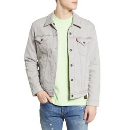 Reversible Flannel Lined Denim Trucker Jacket