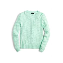 Everyday Cashmere Cable Crewneck Sweater