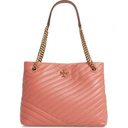 Kira Chevron Quilted Leather Tote