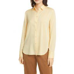 Slim Fit Stretch Silk Shirt
