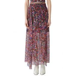 Jehane Floral Silk Maxi Skirt