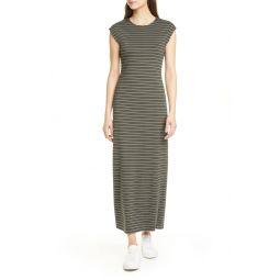 원피스Stripe Ponte Knit Maxi Dress