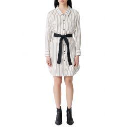 Rayone Stripe Long Sleeve Shirtdress