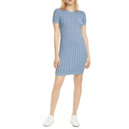 Cotton Cable Sweater Dress