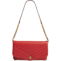 Kira Chevron Quilted Leather Clutch