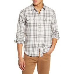 Patton Plaid Flannel Long Sleeve Workshirt