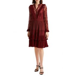 Clandre Lace Fit & Flare Dress