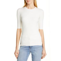 Ribbed Elbow Sleeve Sweater