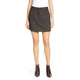 High Waist Multicolor Tweed Miniskirt