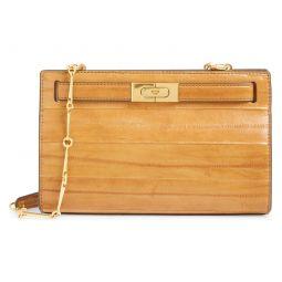 Lee Radziwill Eel Leather Frame Shoulder Bag
