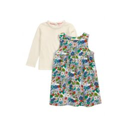 Pinnie Long Sleeve Top & Corduroy Dress Set