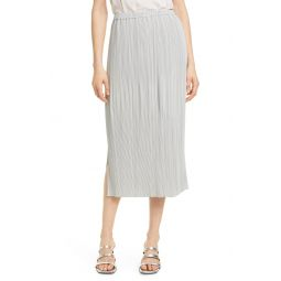 Plisse Midi Skirt