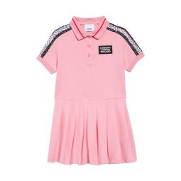 Rebecca Monogram Stripe Pique Polo Dress