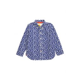 Laundered Mammoth Print Button-Up Shirt