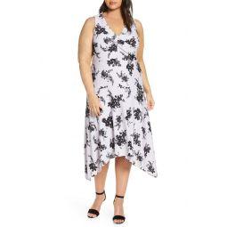 Bicolor Bloom Midi Dress