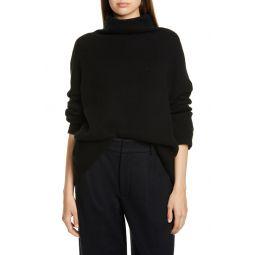 Wool Blend Funnel Neck Pullover