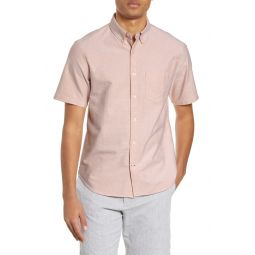 Short Sleeve Button-Down Oxford Shirt