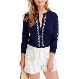 Jackie Embroidered Eyelet Sweater