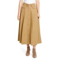 Twill Midi Skirt