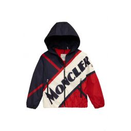 Bert Logo Print Down Hooded Jacket