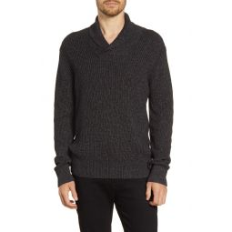 Marled Shawl Collar Sweater