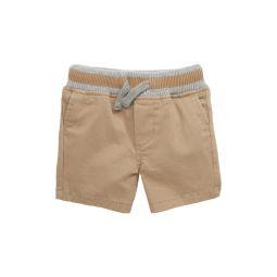 Rib Waist Twill Shorts