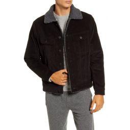 Faux Fur Lined Corduroy Trucker Jacket