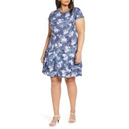 Bleached Floral Fit & Flare Dress