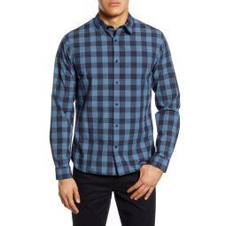 Slim Fit Buffalo Check Button-Up Shirt