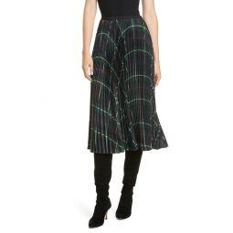 Rese Pleated Plaid Skirt