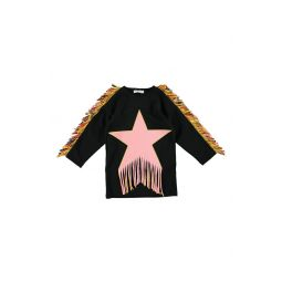 Fringe Star Sweatshirt Dress