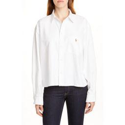 Crackle Logo Button-Up Cotton Shirt