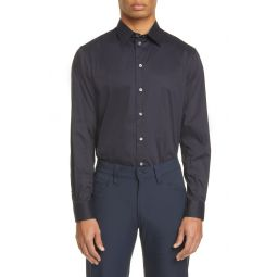 Slim Fit Stretch Solid Button-Up Shirt