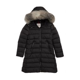 Abelle Down Coat with Genuine Blue Fox Fur Trim