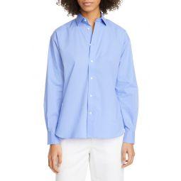 Cotton Poplin Button-Up Shirt