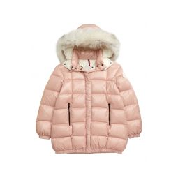 Parana Quilted Hooded Down Jacket with Genuine Fox Fur Trim