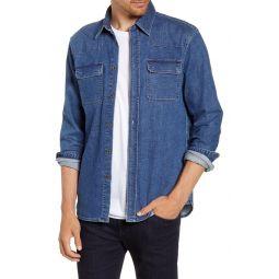 Western Button-Up Denim Shirt