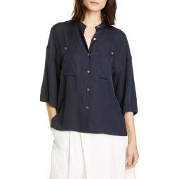 Silk Blend Utility Shirt