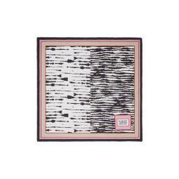 Zebra Stripe Cotton & Silk Twill Scarf