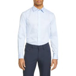 Slim Fit Stretch Button-Up Shirt