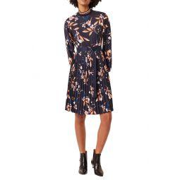 Elvia Long Sleeve Pleated Dress
